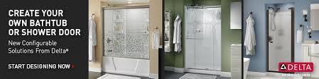 Make Your Own Shower Door Delta 33 In Semi Frameless Contemporary Pivot Shower Door Glass