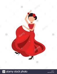 cartoon flamenco dancer stock photos u0026 cartoon flamenco dancer