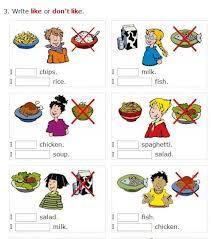 food vegetable fruit like don u0027t like easy worksheets