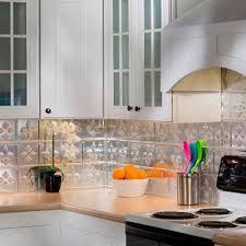 Tile Backsplash In Kitchen Fasade 24 In X 18 In Fleur De Lis Pvc Decorative Tile Backsplash