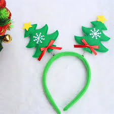 hair clasp kids baby child christmas tree headband party hat costume