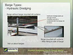 Turbidity Curtains Granite Environmental Barge Silt Barrier For Turbidity Control At