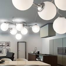 Wohnzimmer Design Lampen Wohnzimmer Led 39 Chrom Glas Kugel Decken Lampe Wohnzimmer