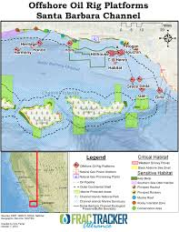 Channel Islands Map Hydraulic Fracturing Offshore Wells On The California Coast