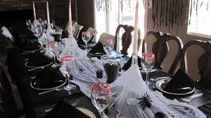 halloween themed birthday ideas for halloween themed birthday party with black table cover