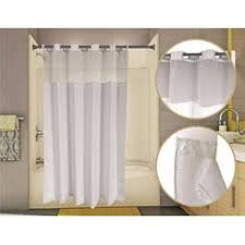 Hotel Shower Curtain With Snap In Liner Waffle Extra Wide Shower Curtain White 108x72inch