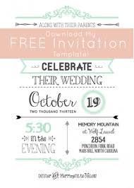 wedding invitations printable templates free wblqual com
