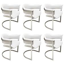 Leather And Chrome Chairs Furniture Mesmerizing Chrome Dining Chairs Images White And