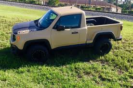 custom jeep custom jeep renegade pickup echoes comanche of yore and it can be