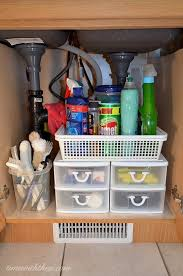 ideas to organize kitchen she bought clear ribbed shelf liner and plastic drawers and look