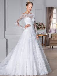 download off the shoulder wedding dress with lace sleeves