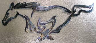 ford mustang metal wall mustang 21 x9 metal wall the ponies mustangs