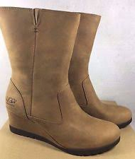 s ugg australia brown leather boots ugg australia leather wedge boots for ebay