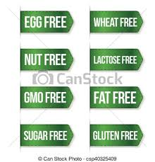 vector clipart of food diet icon collection set gluten free