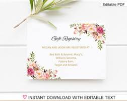 wedding registry bank account registry etsy