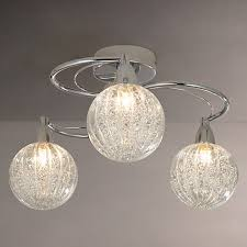 3 arm ceiling light john lewis robertson semi flush 3 arm ceiling light chrome john