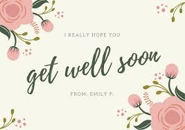 get well soon cards pink green floral simple get well soon card templates by canva