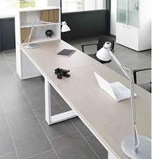 table de travail bureau artdesign bureaux design avec plateaux mélaminéhêtre ou blanc uni