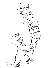 innovative ideas curious george coloring page eating banana free