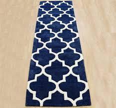 Navy Blue Runner Rug Arabesque Blue Runner Image 1 Living Space Pinterest