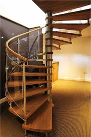 Glass Banister Kits Spiral Stairs In Beech Oak Acrylic Glass And Steel