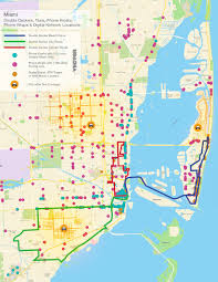 Little Havana Miami Map by Miami U2014 Vector Media