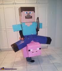 Steve Minecraft Halloween Costume Minecraft Steve Costume Diy