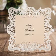 vintage wedding invitations vintage border embossed laser cut wedding invitations vintage