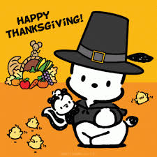 happy thanksgiving sanrio hello happy