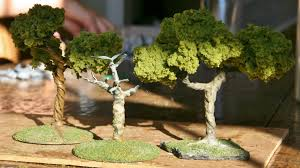 how to make miniature trees for wargaming terrain simply