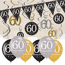 60th birthday decorations 60th birthday decorations black and gold 60th birthday bunting