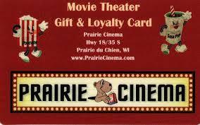 theater gift cards prairie cinema prairie du chien wi gift cards