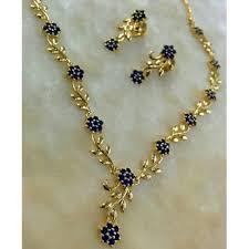 necklace set blue stone images Buy georgeous gold plated blue stones necklace set online jpg