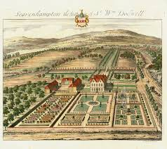 Versailles Garden Map Antique Prints Of Architecture By Johannes Kip From The Ancient