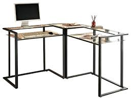 L Shaped Metal Desk Glass Metal Desk Countrycodes Co