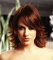 love this color shoulder length layered flipped hair long