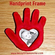 salt dough handprint frame