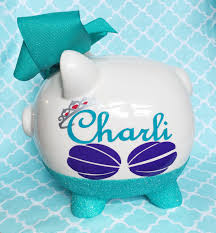 personalized baby piggy banks piggy bank glitter piggy bank personalized piggy bank