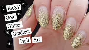 15 minute glitter gradient nail art perfect for beginners youtube