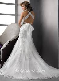 fashion mermaid v neck tulle lace wedding dress with straps