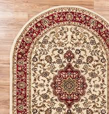 Oval Area Rugs Classic Ivory 5 3 X 6 10 Oval Area Rug Floral