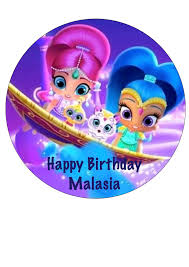 shimmer and shine icing sheet edible image cake topper from