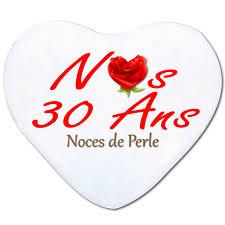30 ans mariage anniversaires de mariage coussin 30 ans de perle