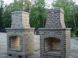 outside fireplace grill deck design and ideas
