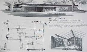 Mid Century Modern Home Floor Plans With Design Gallery - Mid century modern home design plans