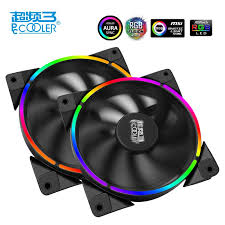 120mm rgb case fan pccooler 12cm case fan halo led aura rgb 4pin pwm quiet suit for cpu