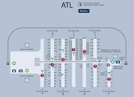 atlanta international airport map atl airport map atl terminal map
