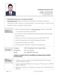 Resume Format Pdf For Electronics Engineering Freshers by 100 Resume Samples For Engineering Freshers Resume Resume
