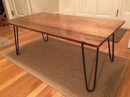 rectangular wood hairpin coffee table black hairpin leg coffee table with brown rectangle contemporary