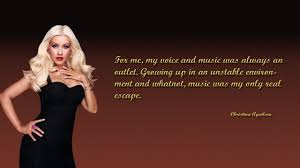 quotes beauty music christina aguilera music is my outlet best music quotes